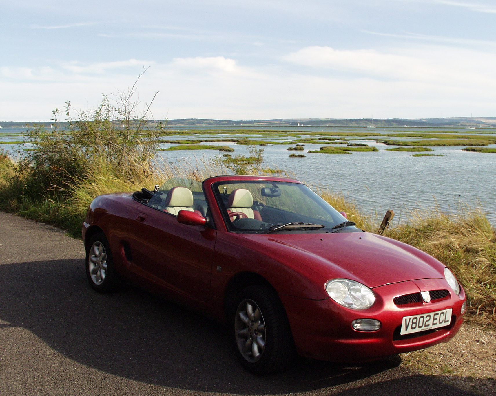 2000-08-19 MGF road trip to Lepe Beach