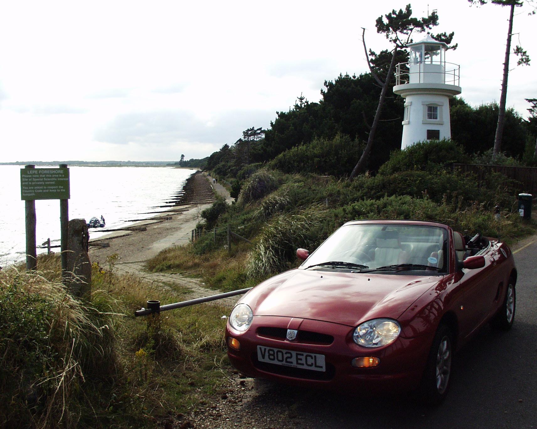 2000-08-19 MGF road trip to Lepe Beach