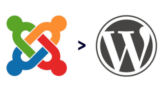 Joomla to Wordpress migration graphic